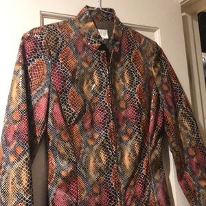 Cache faux leather jacket- like new.
